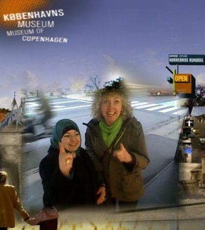 Snapshot fra Københavns Museums fotovæg på Dronning Louises bro.