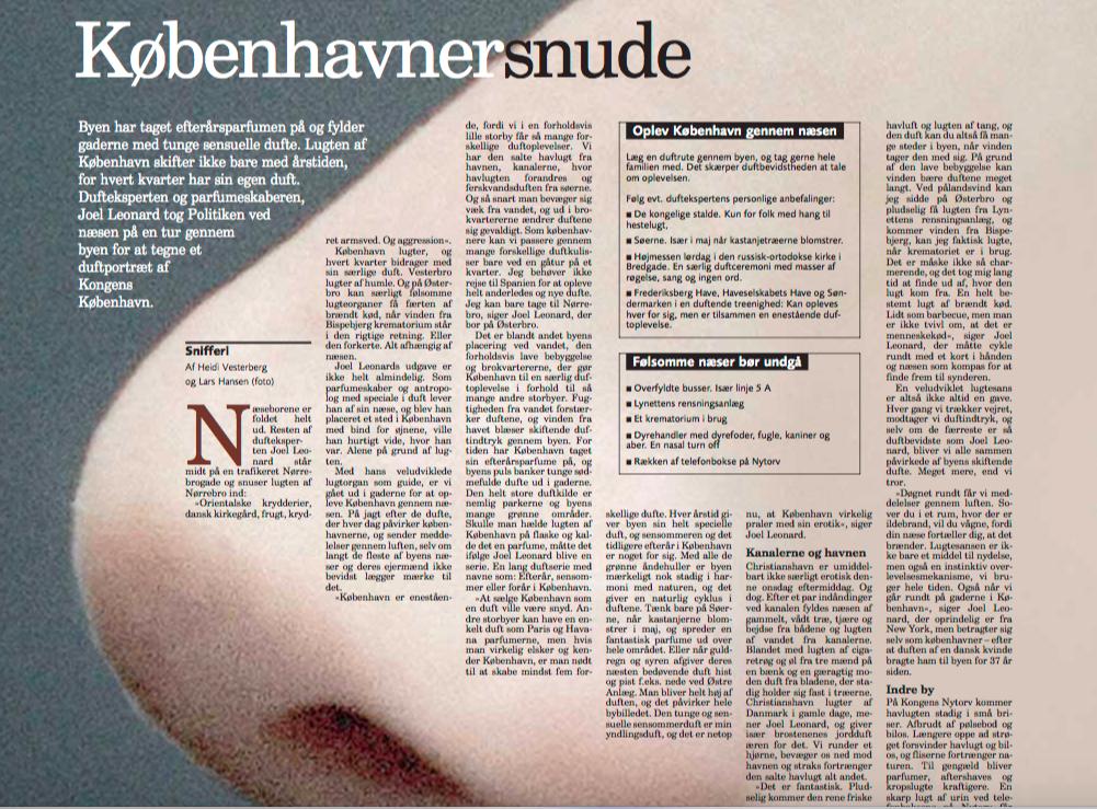 Københavnersnude, Politikens Kultursektion