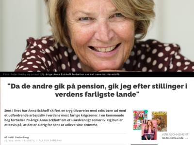 Artikel: Et usædvanligt seniorliv i verdens brændpunkter